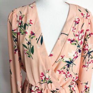 Brigitte Bailey Dresses - Brigitte Bailey Floral Long Sleeve Dress M - LD